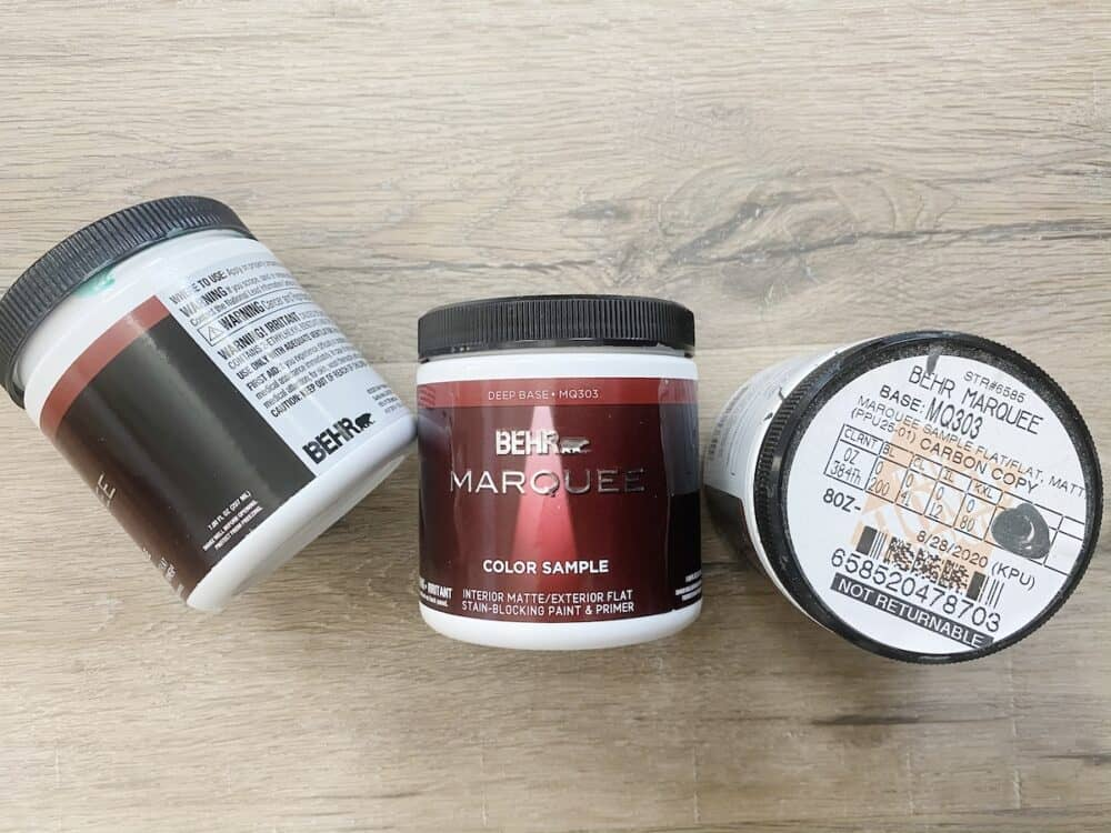 collection of paint samples