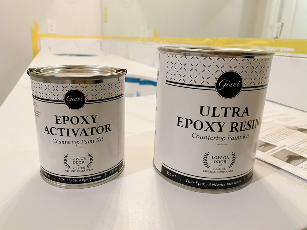 Epoxy kit for painted countertops