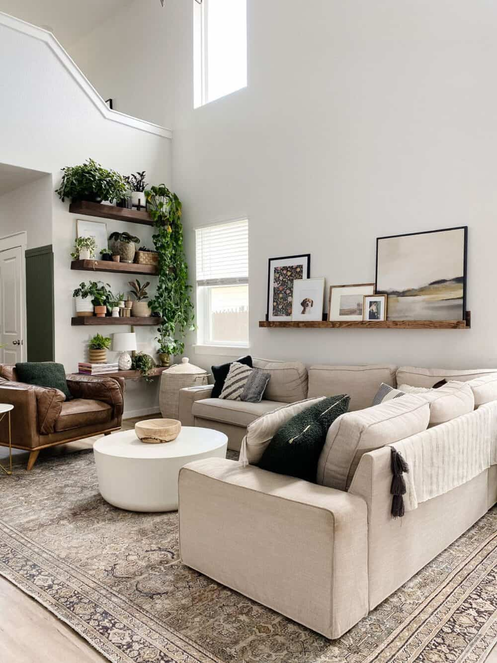 An open living space with neutral colors