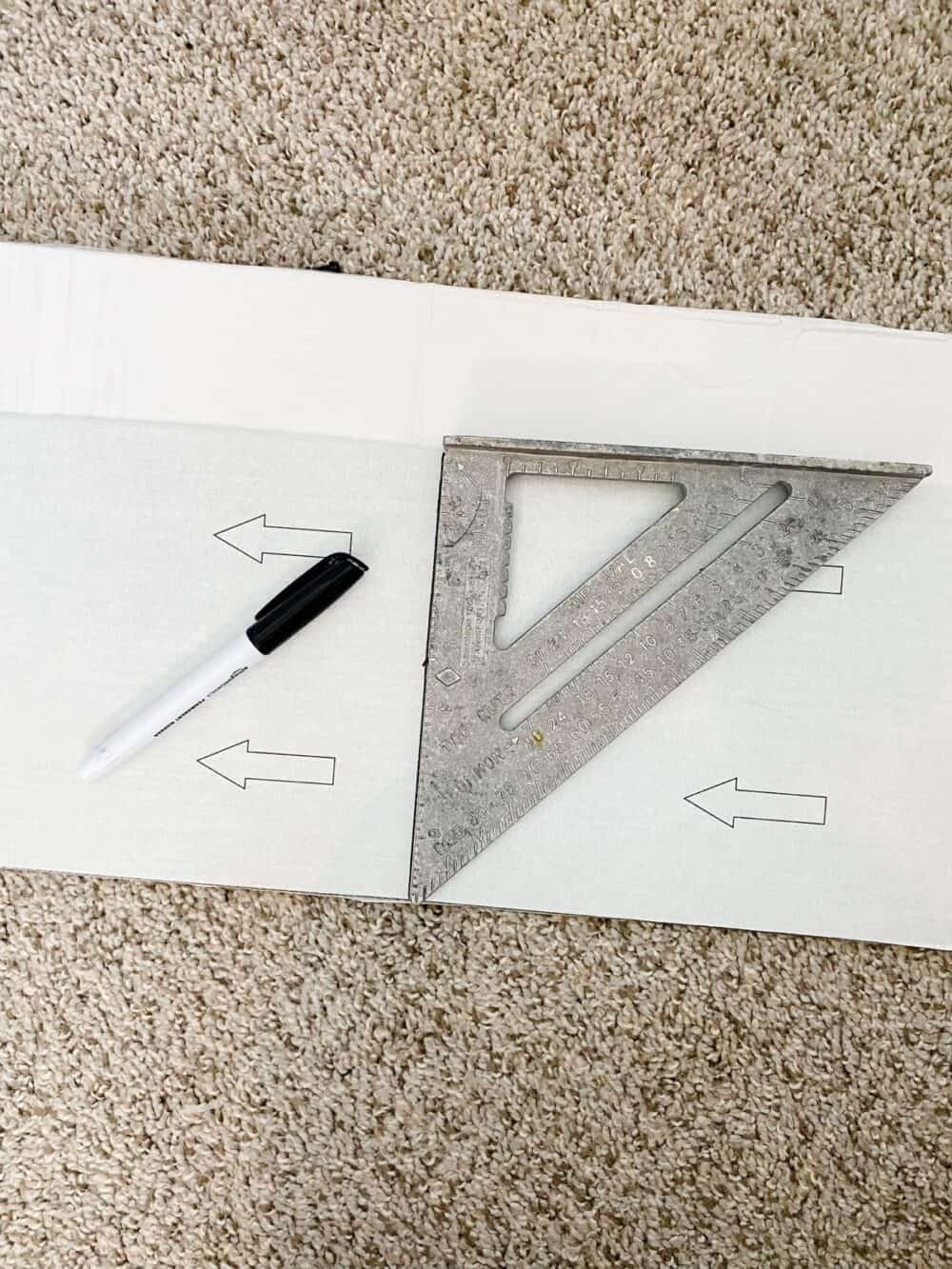 preparation for cutting vinyl plank for wall