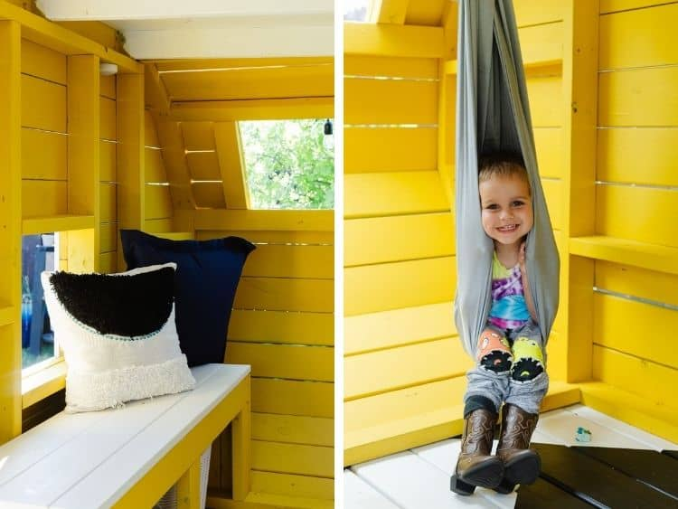detail images of seating area in playhouse