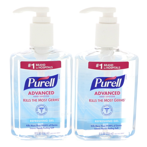 Buy Purell Advanced Hand Sanitizer Refreshing Gel 2 X 236ml