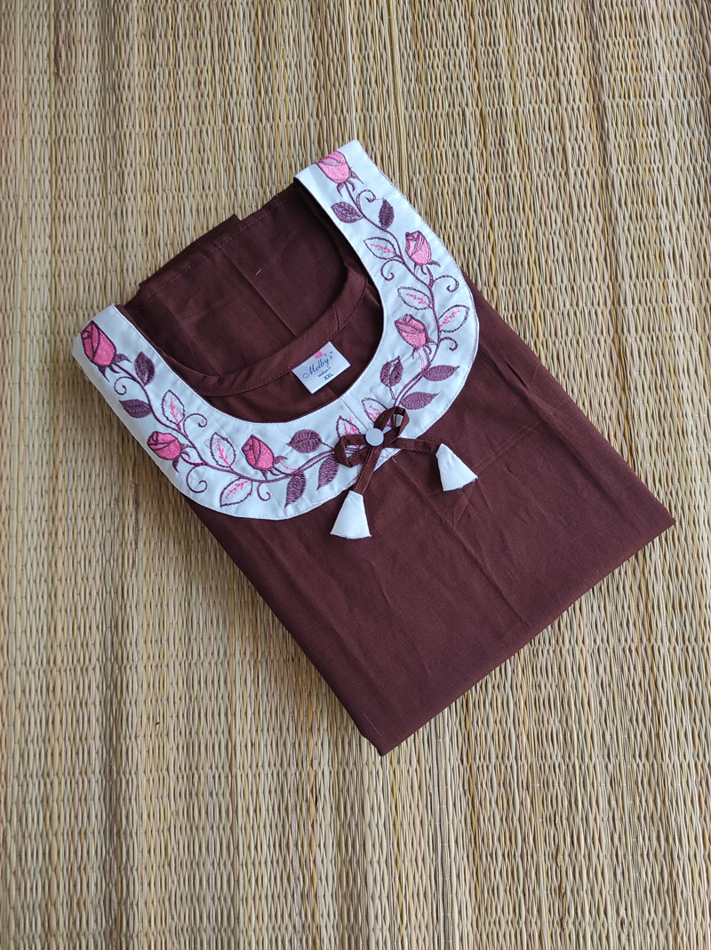 cotton embroidery nighty online