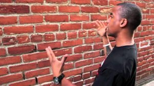 Talking to wall