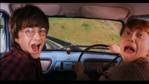 Harry and Ron Screaming