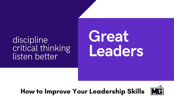 Word to improve your leadership skills.