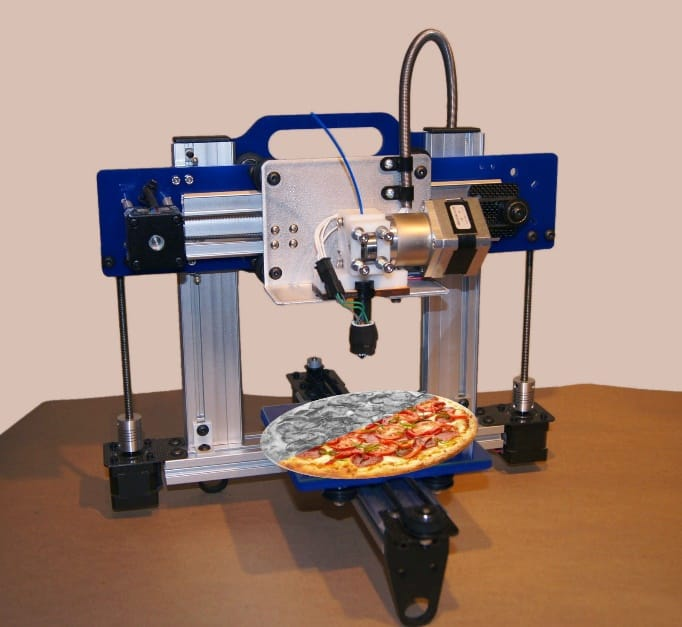 Image result for 3d printer on pizza