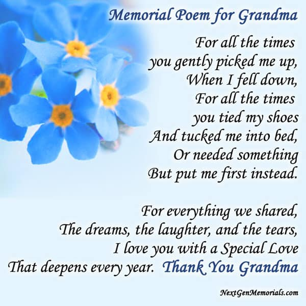 Inspirational Poems About Grandmothers 3