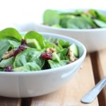 Cranberry Walnut Spinach Salad with Honey Ginger Dressing    Thanksgiving Salads    Easy and Quick
