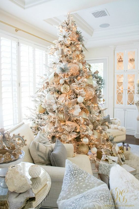 White And Gold Christmas Decorations Inspo Nikki S Plate