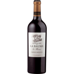 Domaine-de-la-Baume Les-Thermes Cabernet Sauvignon 2015 75cl - A lively attack of fresh dark fruit with notes of blackcurrant leaf, followed by structured tannins that support the flavour. Long lingering finish.