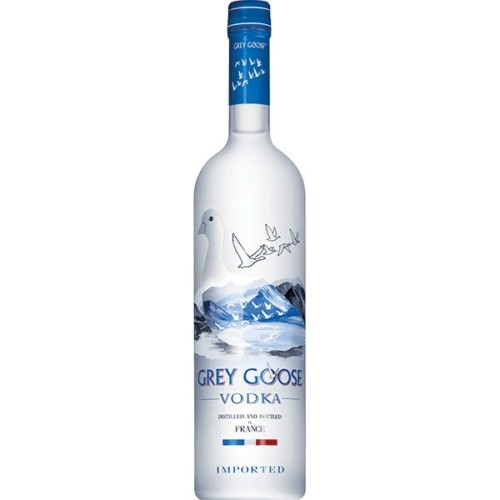 Grey Goose -From Cognac in France, this breakthrough wheat-based small-batch ultra-premium vodka has achieved global success and won a Platinum medal at the World Spirits Championship. Clean and fresh, with a smooth, creamy texture.
