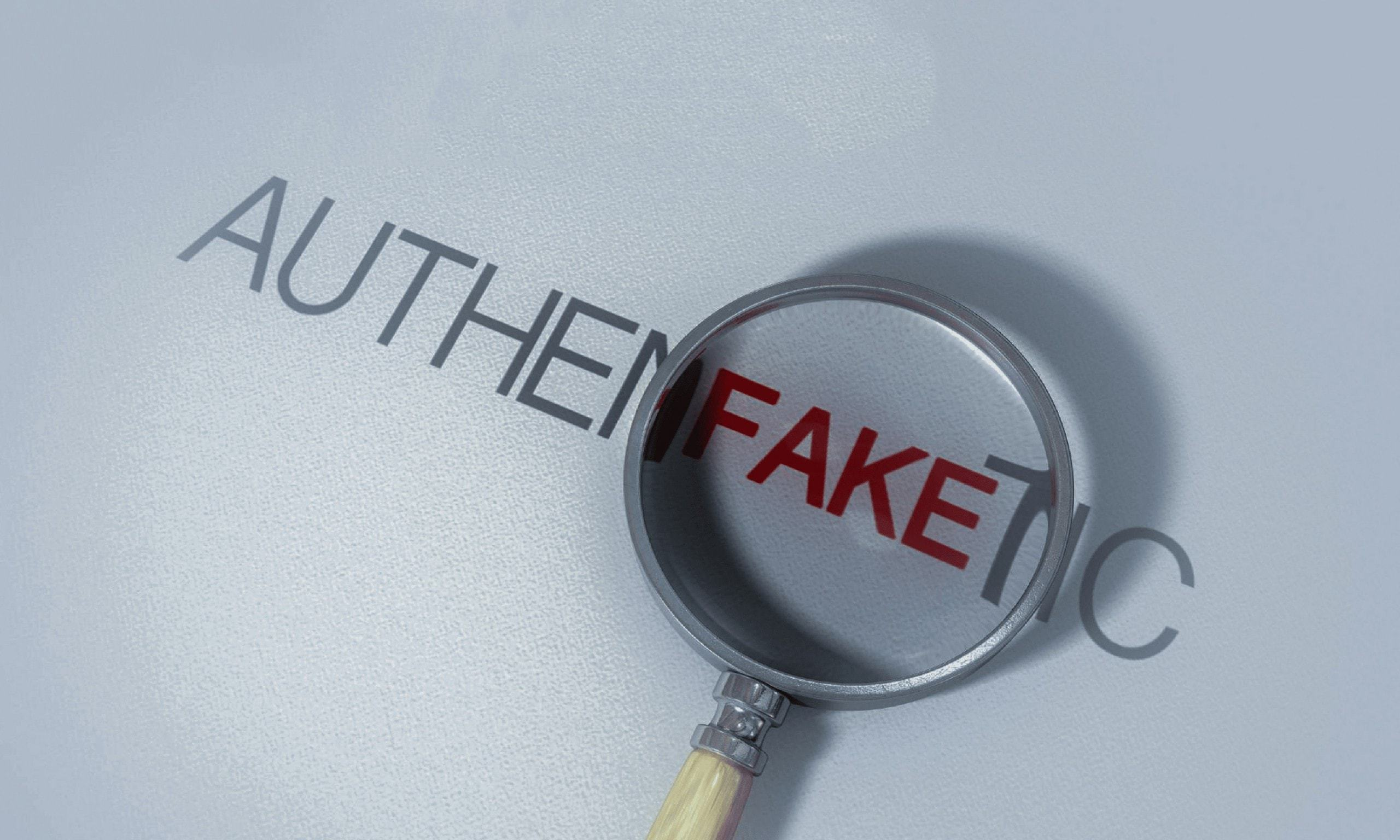 Scanning to tell whether product is genuine or fake.