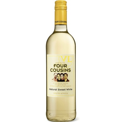Four Cousins Natural Sweet White - A fragrant, sunshine coloured wine with gentle honeysuckle perfume. Flavours of luscious apricots, nougat and rich tropical fruit salad is followed by a soft, lingering finish.