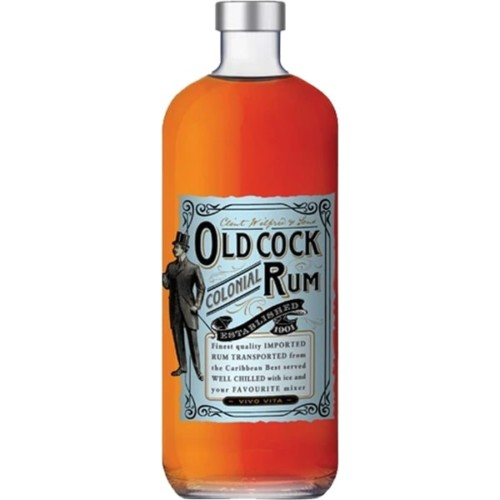 Old Cock Rum 700ml - Colonial Imported Caribbean Rum