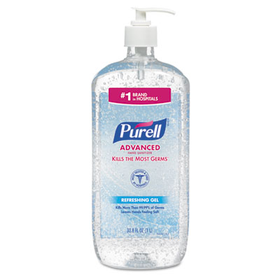 Purell Advanced Hand Sanitizer Refreshing Gel Clean Scent 1 L 4