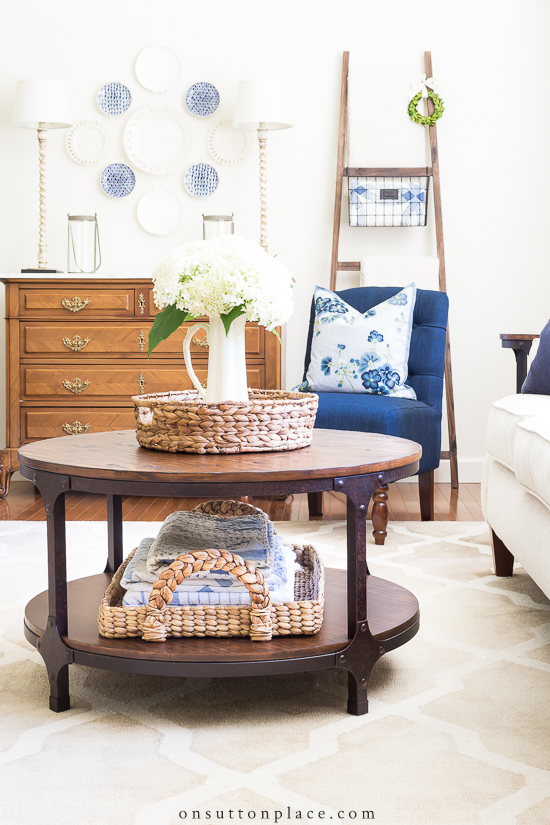 Simple Round Coffee Table Styling Ideas On Sutton Place