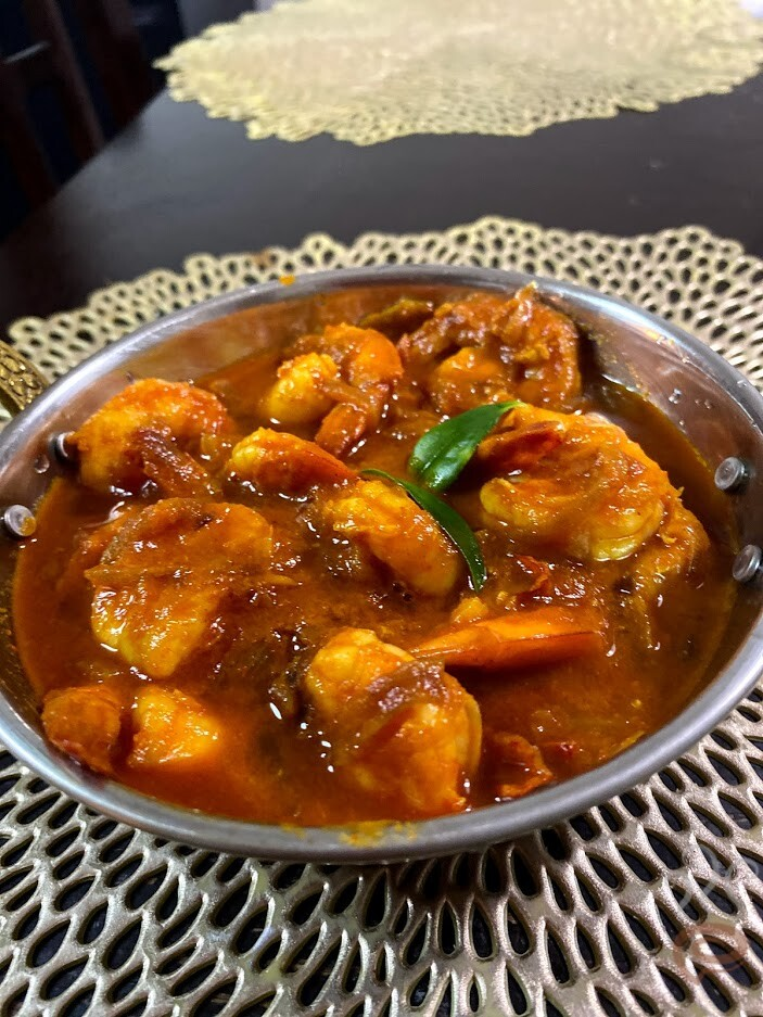 Simple Prawn Curry with Coconut Milk