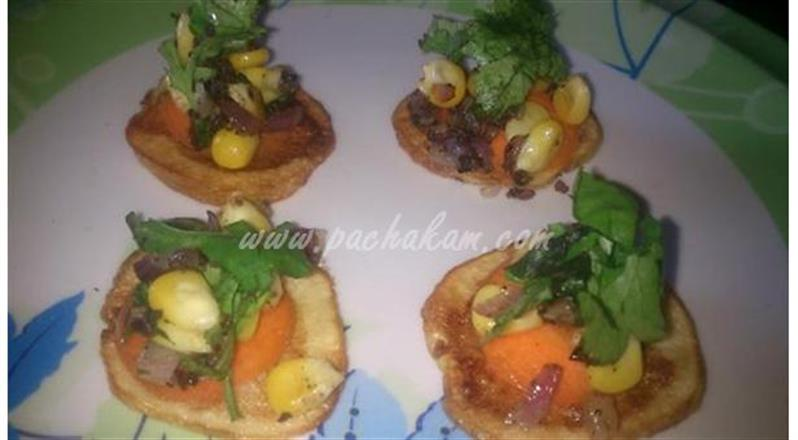 Potato Chips With Corn Dressing (Step By Step Phot – pachakam.com