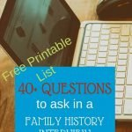 40+questions to ask in a family interview. Interview your Grandparents and learn their history