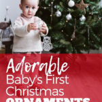 Baby with Christmas tree