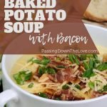 Rene's baked potato soup with bacon
