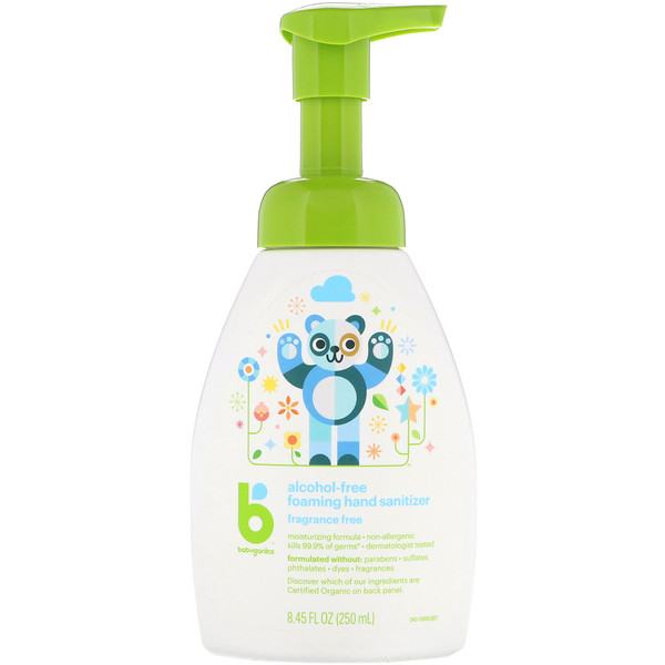 Babyganics Foaming Hand Sanitizer Alcohol Free Fragrance Free