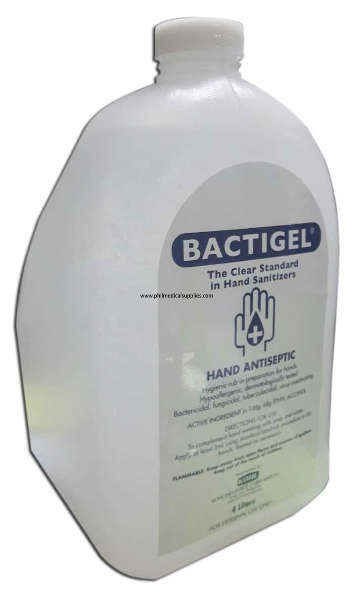 Hand Sanitizer Antiseptic Gallon Bactigel Philippine Medical