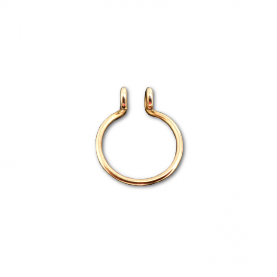 gold filled fake septum