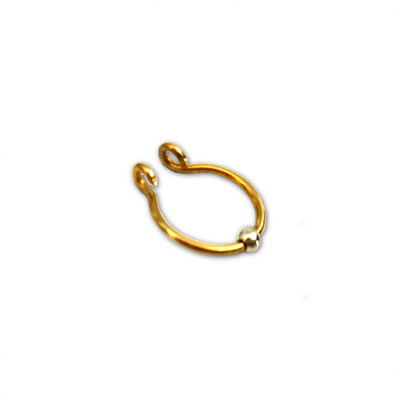 gold filled septum silver bead1
