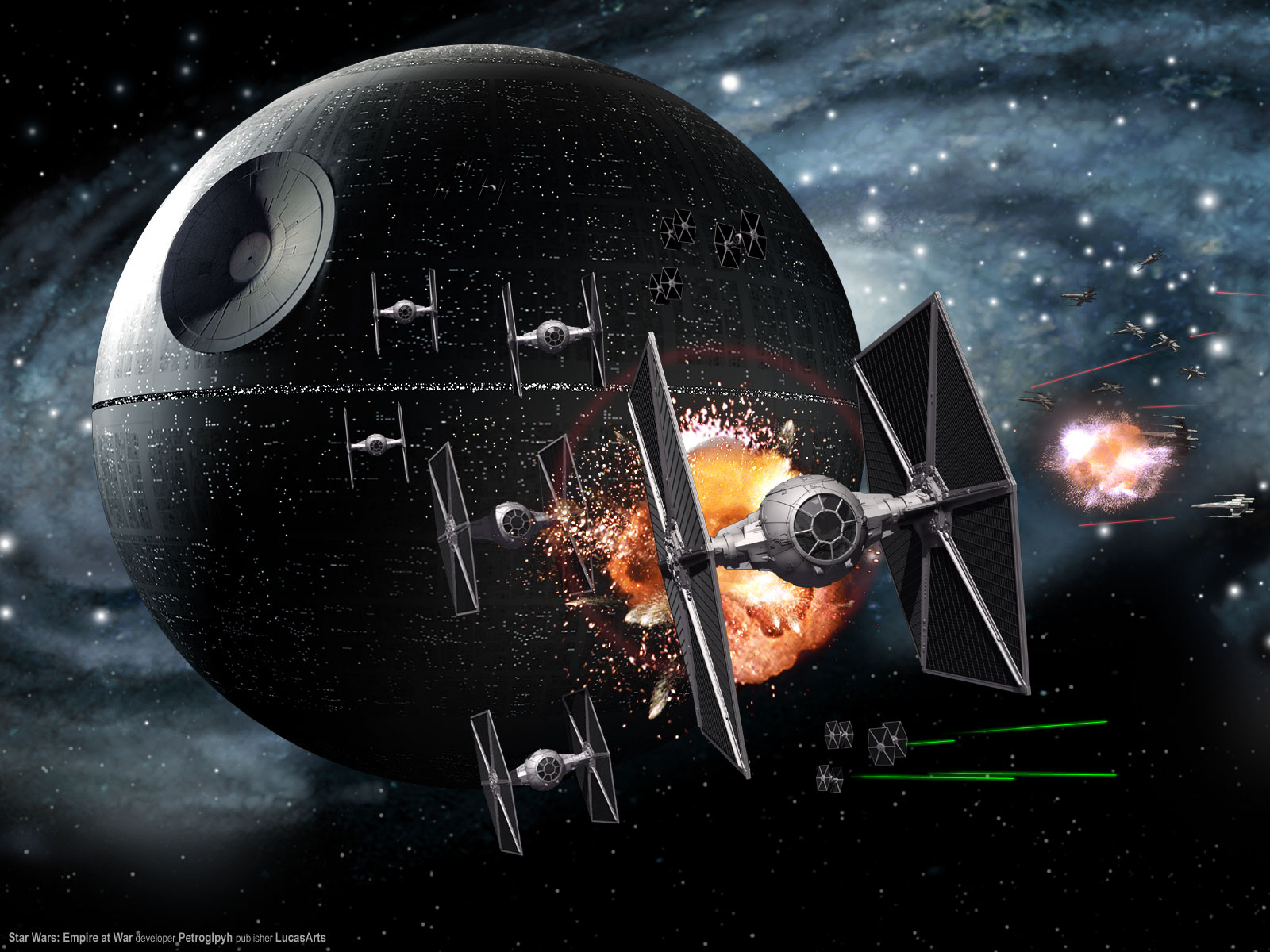 Epic Star Wars Space Battle Wallpaper