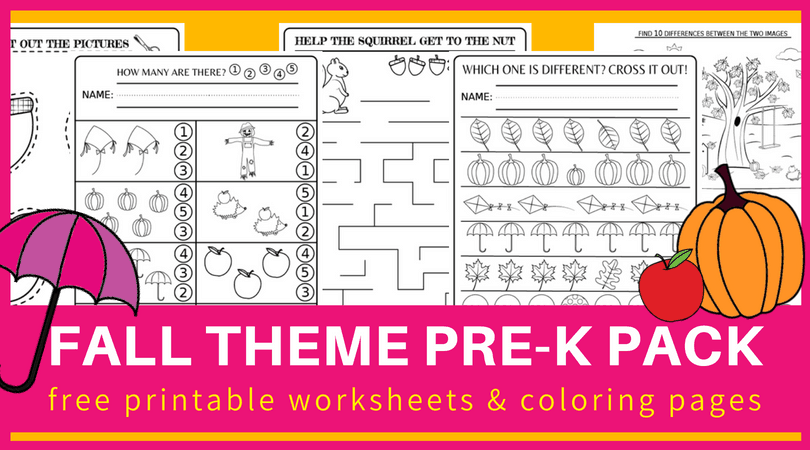 Fall Preschool Worksheets FREE Printable Pdf - Planes & Balloons Let's  Make Learning Fun!