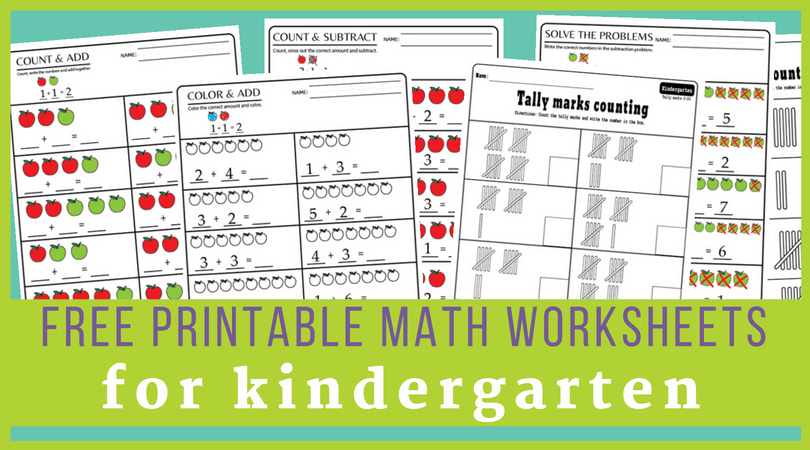 15+ Kindergarten Math Worksheets Pdf Files To Download For FREE