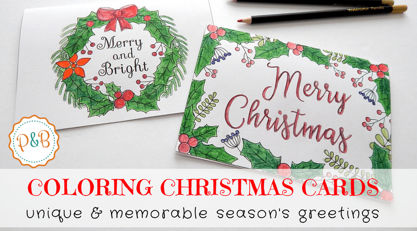 6 Unique Printable Christmas Cards To Color Free Pdf