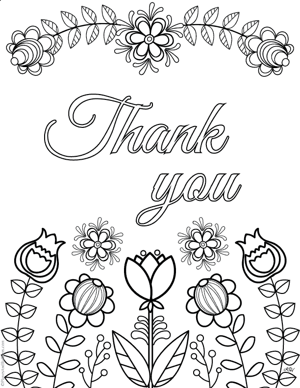 Thank You Coloring Page Worksheets (Free Printable PDF)