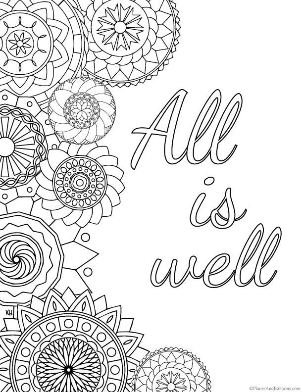 Inspirational Quotes Coloring Pages For Everyone (Free Printables)