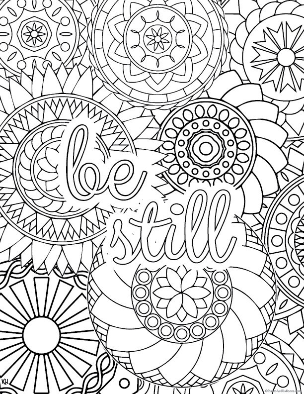 Stress Relief Coloring Pages (To Help You Find Your Zen)