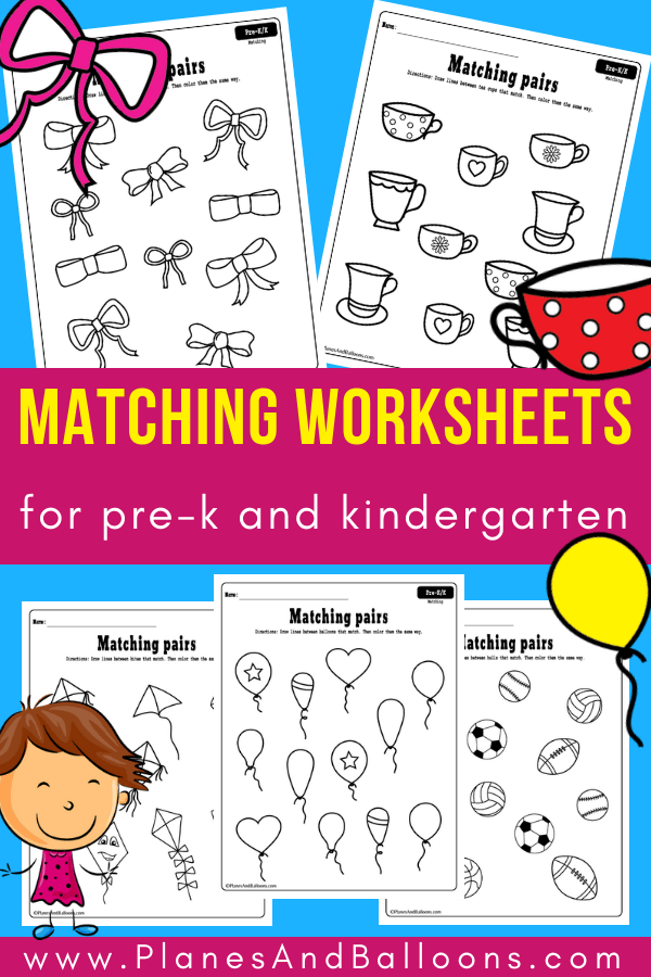 Matching Worksheets For Preschool And Kindergarten FREE Printable