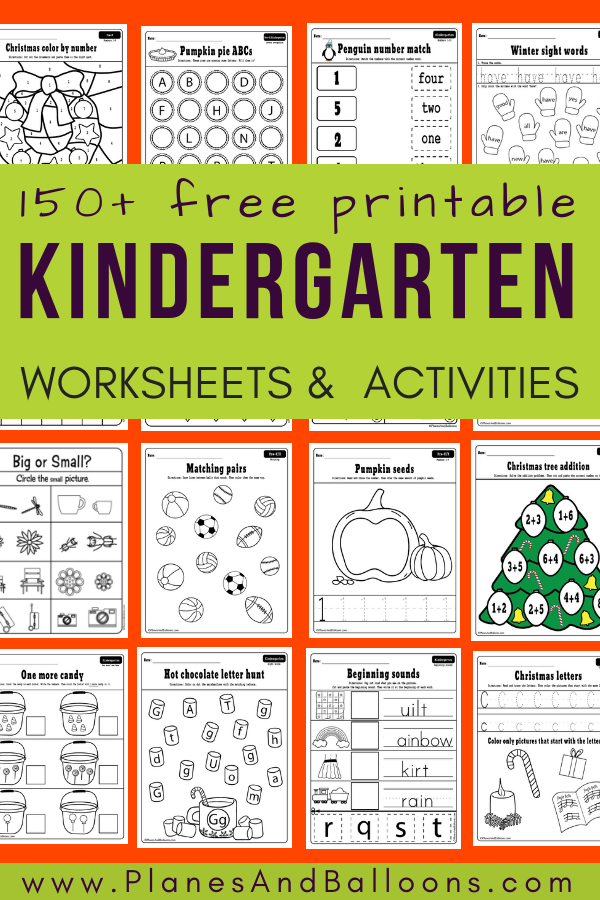 400+ Free Printable Worksheets For Kindergarten INSTANT Download - Planes &  Balloons Let's Make Learning Fun!