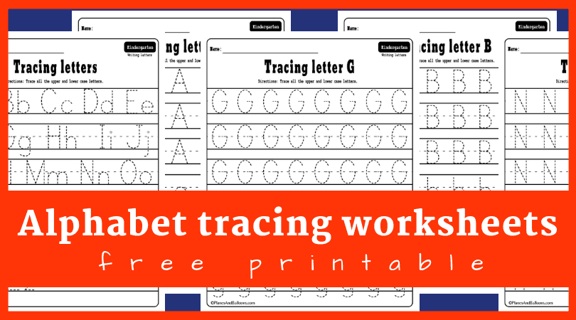 Alphabet Tracing Worksheets A-Z Free Printable PDF