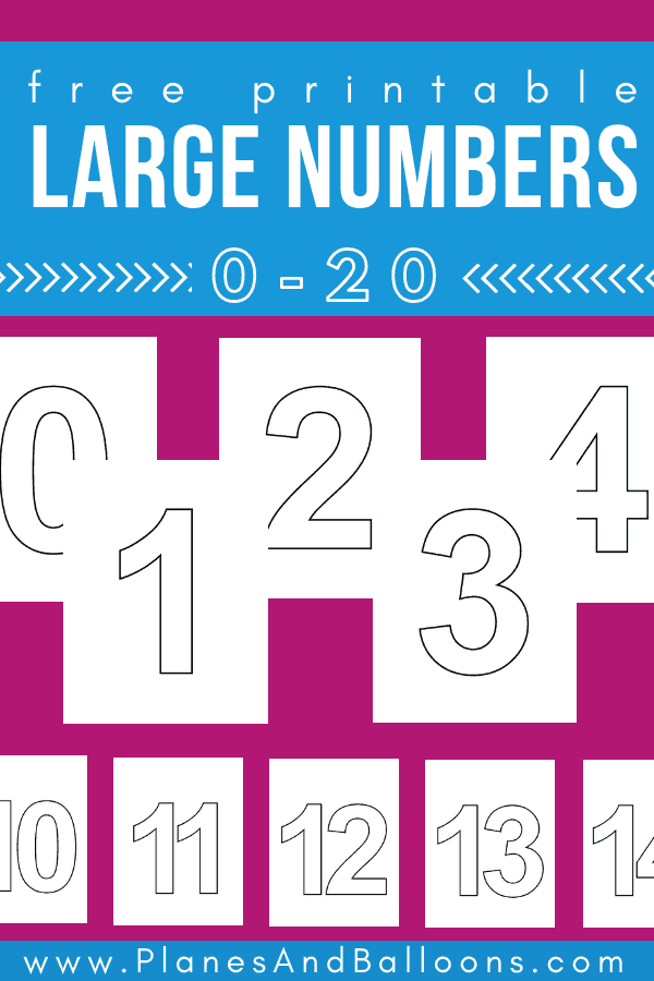 Free Large Printable Numbers 1 20 Pdf