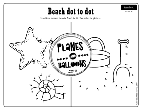 Easy Dot To Dot Printables 1-10 And 1-20 For Preschool And Kindergarten