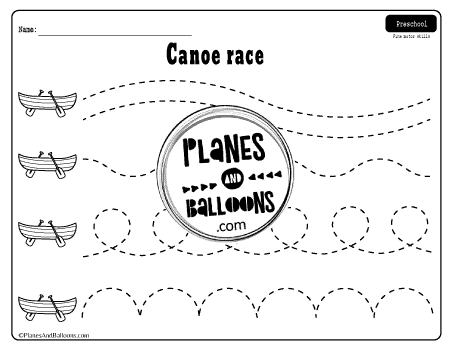 Tracing Lines Worksheets For 3 Year Olds - Planes & Balloons Let's Make  Learning Fun!