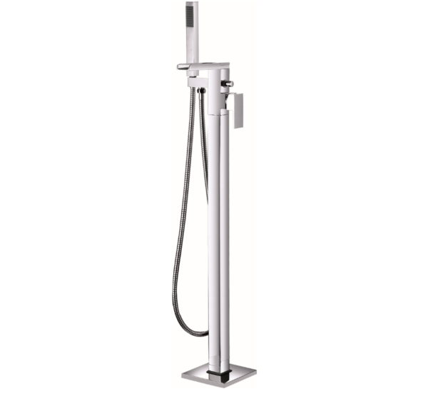 nigella waterfall spout floorstanding single lever bath shower mixer (fixed spout)