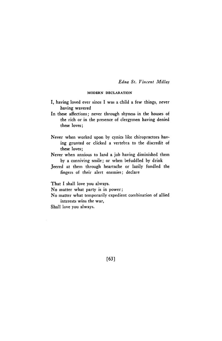 Millay Poems 3
