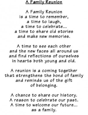 Family Reunion Poems 6
