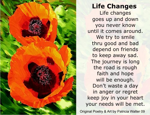 Poems About Changes In Life 6