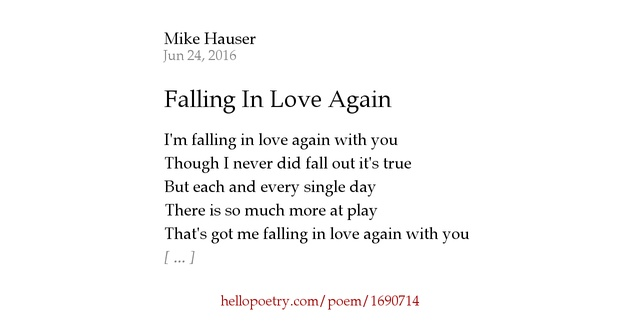 Falling For You Poems 6