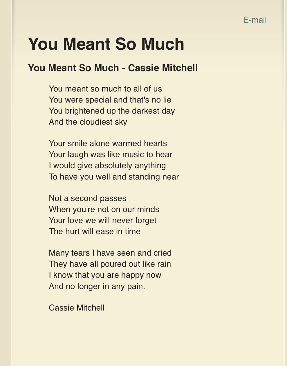 Poems For Grandmothers Funerals 6