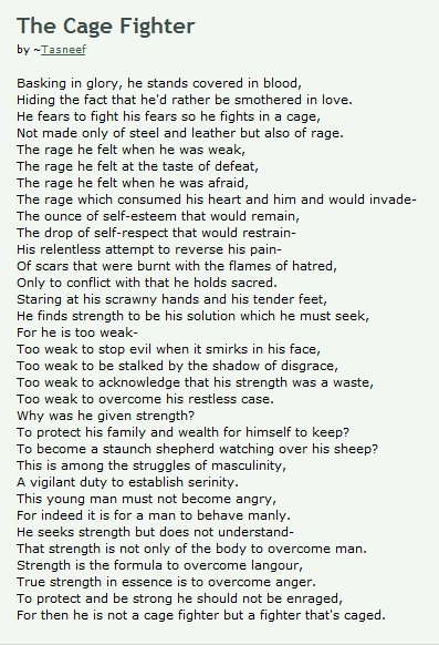 Poems About Fighters 6